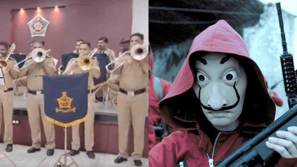 Money Hiest Fans in india, Mumbai Police Band Performed on Bella Ciao